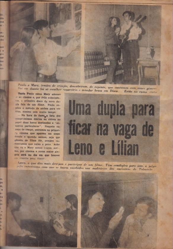 Paulo Ribeiro - dupla pra ficar no lugar de Leno e Lilian