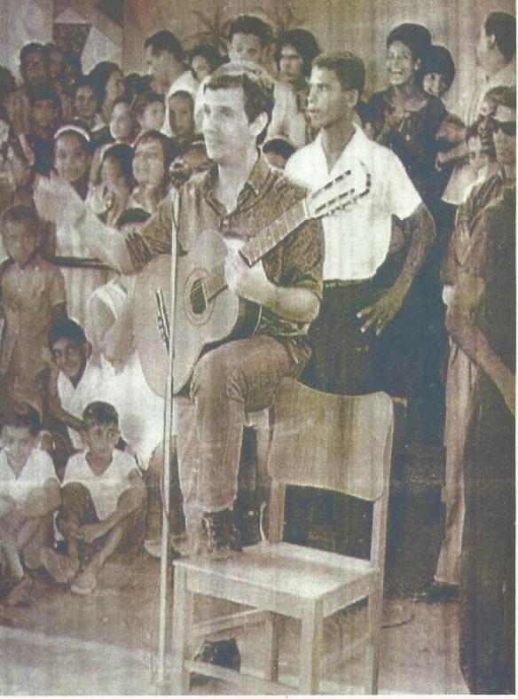Roberto Carlos no Cine São Pedro em Natal - 1963 Foto do acervo de Fred Rossiter Pinheiro.