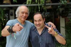 Sérgio Baldassarini e o cantor Erasmo Carlos