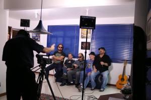 Filmagem com Os Fevers
