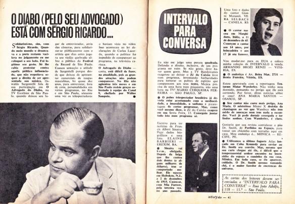 19 - Sérgio Ricardo - Intervalo para conversa