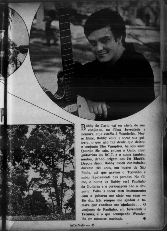 Bobby de Carlo e o filme juventude e ternura