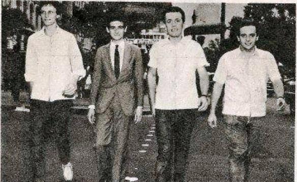 Da esquerda para a direita: Alemão, Jurandi Trindade, Gato e Zé Paulo - Revista Intervalo de 24 de abril de 1966