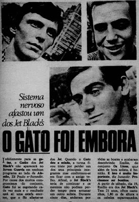 Sai do conjunto The Jet Black`s em 1966