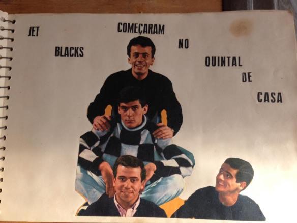 Gato, Serginho Canhoto, José Paulo e Jurandi em 1965 - foto no caderno de recordações da fã Nanci Satriani Ribeiro