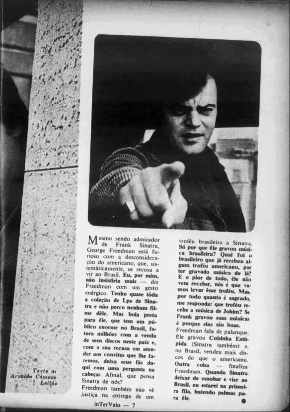George Freedman censura Sinatra 2