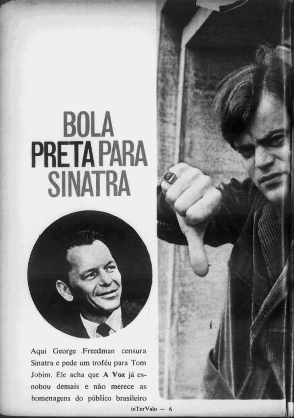 George Freedman censura Sinatra