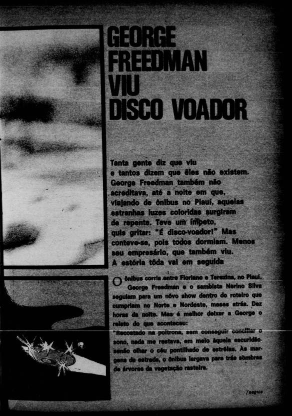 George Freedman e o disco voador