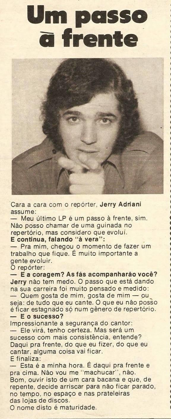Jerry Adriani - um passo à frente