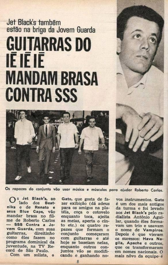 Revista Intervalo - edição de 24 de abril de 1966. Na foto, da direita para a esquerda: Alemão, Jurandi, Gato e Zé Paulo