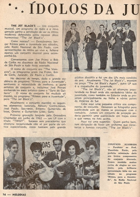 The Jet Blacks na revista Melodias