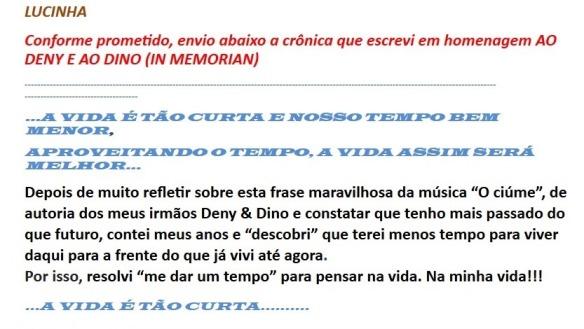 Crônica de Vitor Daniel