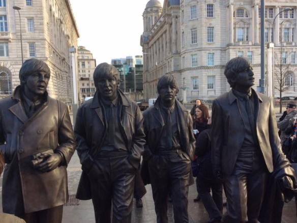 This morning of Dec 04th, 2015 this brand new tribute to the Fab Four has been unveiled at the stunning Liverpool Waterfront, on the eve of the 50 year anniversary of The Beatles last gig in this city - 5th December 1965
