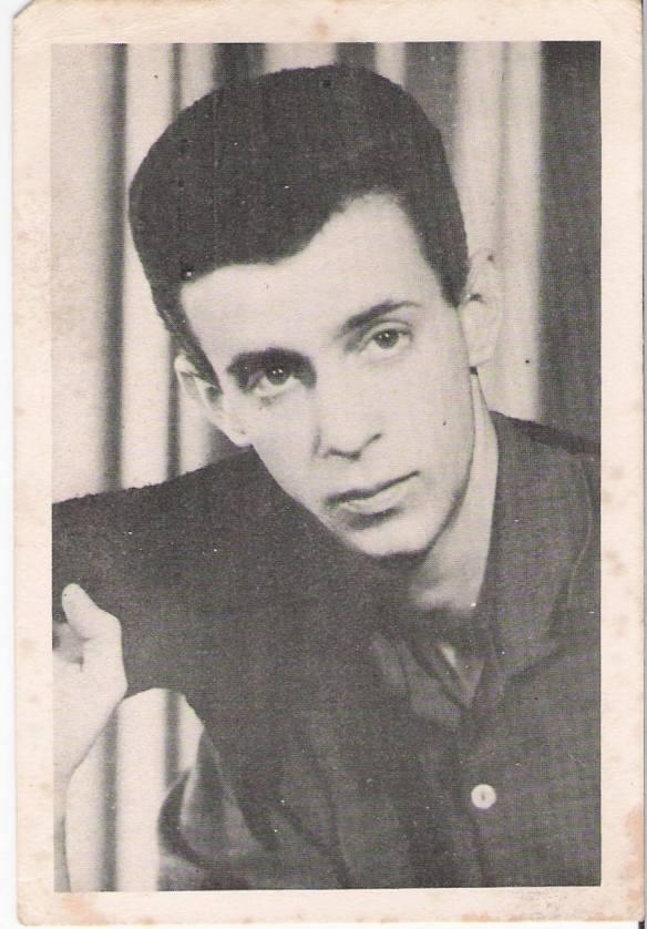 Hamilton Di Giorgio nos anos 60 Foto do acervo do cantor